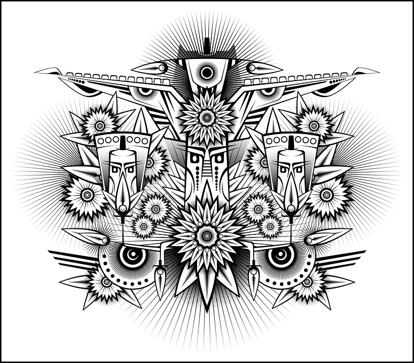 forest patrol tribal abstract stylized doodle digital digital art nature design black and white floral psychedelic wings fauna plants forest jungle flowers bloom ecology guardians tribal tribal tribal tribal tribal doodle psychedelic psychedelic