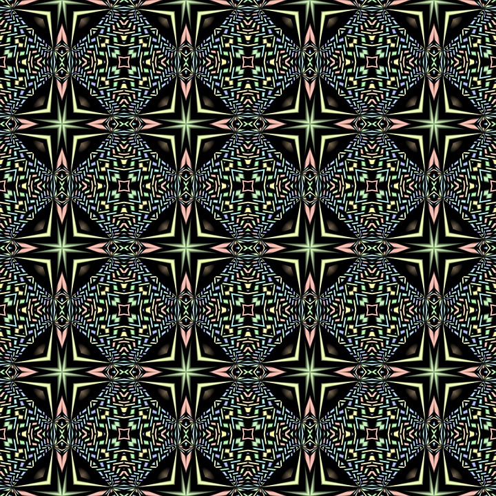 kaleidoscope, pattern, seamless
