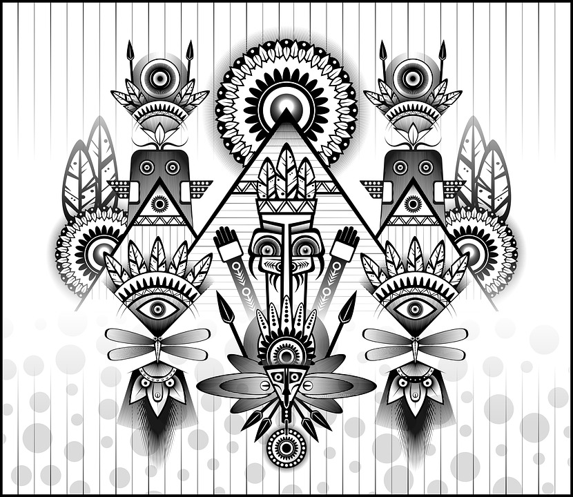 ancient parade ancient civilization tribal abstract stylized doodle digital art digital festival design black and white floral psychedelic fauna plants flowers bloom totem headgear parade sun tribal tribal tribal tribal psychedelic psychedelic psychedelic psychedelic psychedelic totem totem totem totem totem