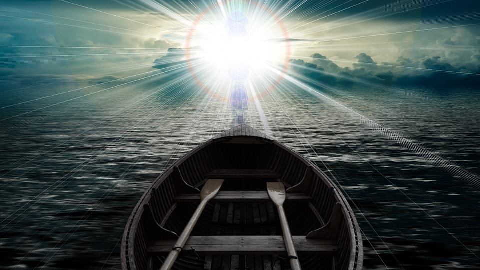 clouds sky boat sea water waves faith christianity god resurrection christian mood spiritual death die harmony silhouettes personal human beyond light rays religion resurrection resurrection resurrection resurrection resurrection spiritual beyond beyond