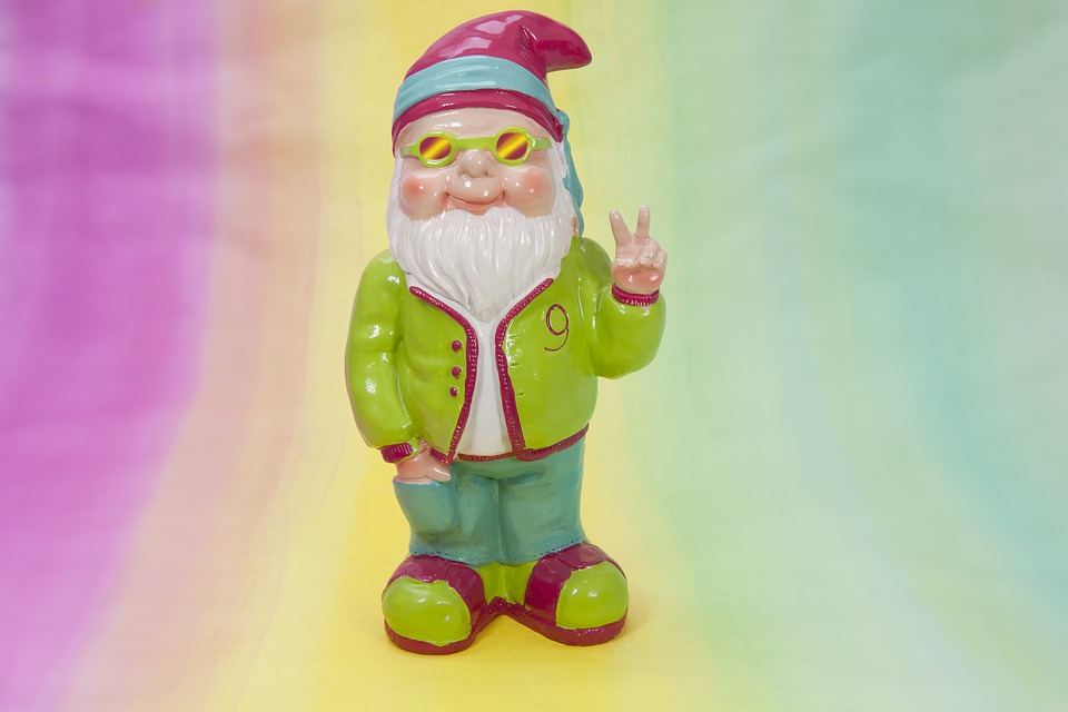dwarf peace spring garden mood colorful summer crazy psychedelic flashy oblique pink yellow green turquoise garden gnome sunglasses peace maker victory sign psychedelic psychedelic psychedelic psychedelic psychedelic