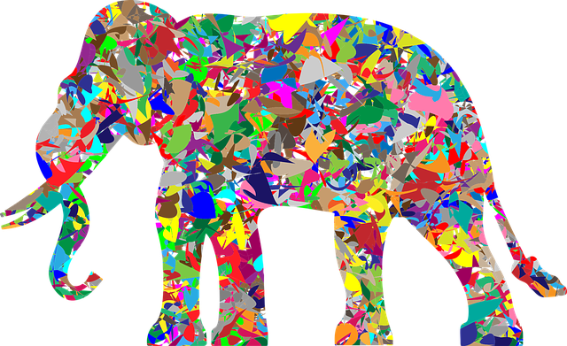 elephant pachyderm animal africa asia mammal shiny colorful psychedelic prismatic chromatic abstract geometric art decorative ornamental elephant elephant elephant elephant elephant psychedelic psychedelic