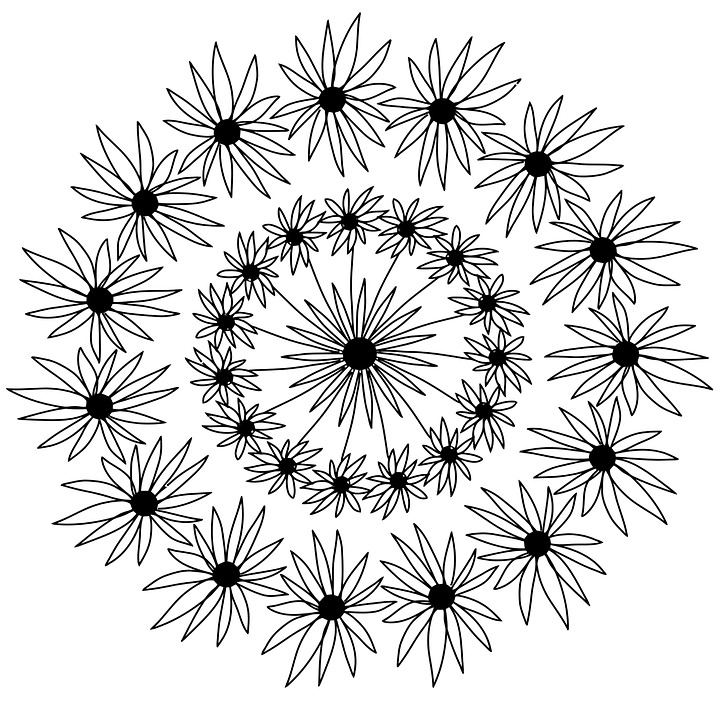 flowers mandala hand drawing pencil artist coloring page coloring fun activity easter teachers handouts pages design decoration indian floral ornament pattern ethnic henna circle vintage meditation oriental arabic round tribal decorative retro style yoga card texture template asian black tattoo lace book mandala mandala mandala mandala mandala henna tribal