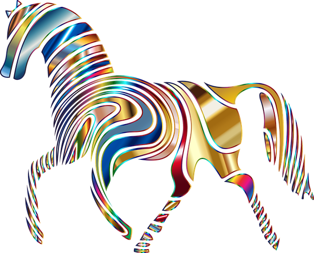 horse, equine, psychedelic