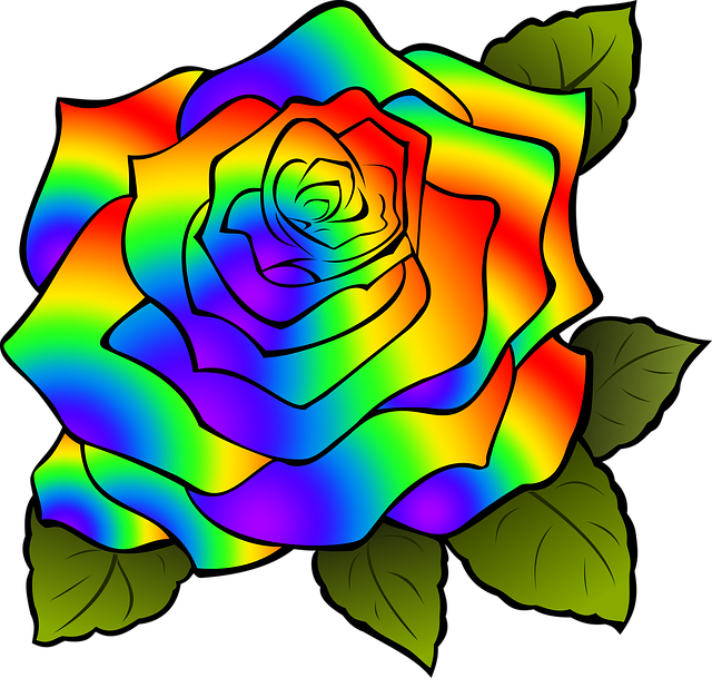 rosa flower rainbow psychedelic pink psychedelia psychedelic nature delicate petals colorful flowers rainbow rainbow rainbow rainbow rainbow